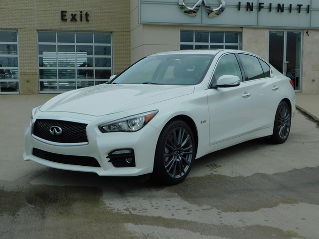 Pre-Owned 2016 INFINITI Q50 Red Sport 400 AWD